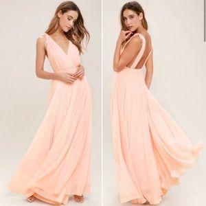 Lulus Dance The Night Away Blush Maxi Dress